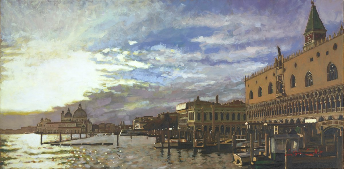 Venice LXXII by stephen collett -  sized 39x20 inches. Available from Whitewall Galleries